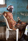 Portrait of the African old man. Royalty Free Stock Photo