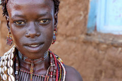 Portrait of the African woman. Stock Photo