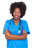 Afro american nurse Royalty Free Stock Photos