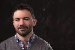 Portrait against dark background stock photos