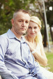Portrait aged couple b Stock Photos