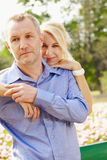 Portrait aged couple d Royalty Free Stock Image