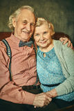 Portrait of aged couple Royalty Free Stock Image