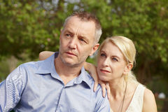 Portrait aged couple a Royalty Free Stock Photos