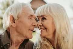 Portrait of aged joyful man and woman Royalty Free Stock Photos