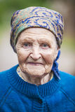Portrait of an aged woman Royalty Free Stock Photography