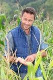 Portrait of agronomist Stock Images