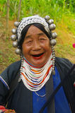 Portrait of an Akha woman. Portrait of an old woman Akha. It belongs to an ethnic group in northern Thailand in the Chiang Rai area. She lives in a village on Stock Photography