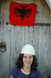Portrait of an albanian girl with hat Stock Photos