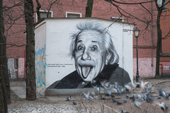 Portrait of Albert Einstein Stock Image
