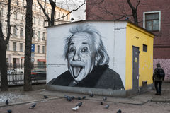 Portrait of Albert Einstein Royalty Free Stock Photography