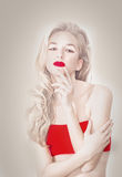 Portrait of the albino model Royalty Free Stock Photo