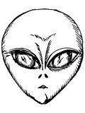 Portrait of alien Stock Photography