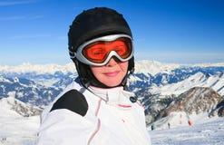 Portrait alpine skier Stock Photos