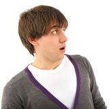 Portrait amazing young man looking to side Royalty Free Stock Image