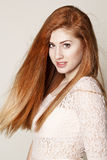 Portrait of amazingly beautiful young redhead woman Royalty Free Stock Photo