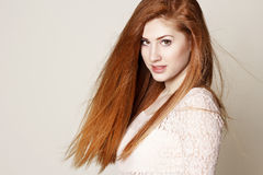 Portrait of amazinly beautiful young redhead woman Royalty Free Stock Photo