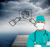 Portrait of an ambitious surgeon Stock Image