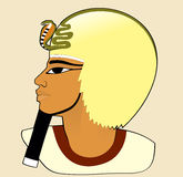 Portrait of Amenhotep. Woman sideview. Ancient Egypt stylization Stock Photography