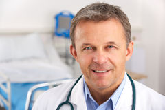 Portrait American doctor on hospital ward Stock Photo