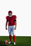 Portrait of american football player Royalty Free Stock Images