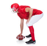 Portrait of American Football player stock image