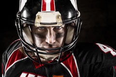 Portrait of american footballer Stock Images