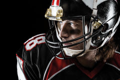 Portrait of american footballer. Portrait of american football player Royalty Free Stock Photo