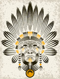 Portrait of American Indian. Stock Photography