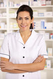 Portrait American pharmacist at work Stock Photos