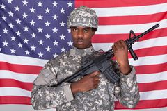 Portrait Of American Soldier Royalty Free Stock Photo