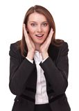 Portrait of amused young business woman. Royalty Free Stock Photo