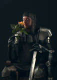 Portrait of ancient knight Royalty Free Stock Photography