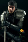 Portrait of ancient knight Royalty Free Stock Images