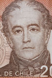 Portrait of Andres Bello in Chilean currency Royalty Free Stock Images