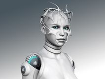 Portrait of an android woman. Portrait of a futuristic looking android woman Stock Photo