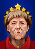 Portrait of Angela Dorothea Merkel, Chancellor of Germany Royalty Free Stock Photos
