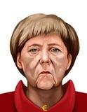 Portrait of Angela Dorothea Merkel, Chancellor of Germany. 15 January 2017 - Ayvalık, Turkey: Chancellor of Germany Angela Merkel Portrait. Illustrated in Stock Photo
