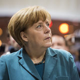 Portrait of Angela Merkel chancellor of Germany Stock Photo