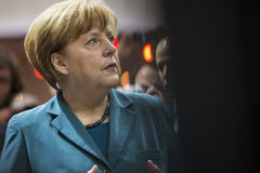 Portrait of Angela Merkel chancellor of Germany Stock Images