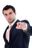 Portrait of a anger business man. On white background Royalty Free Stock Photography