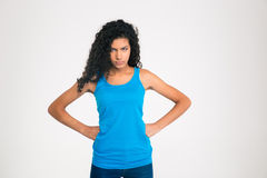 Portrait of angry afro american woman Royalty Free Stock Photos