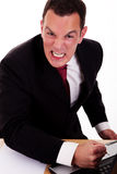 Portrait of a angry  business man Stock Images