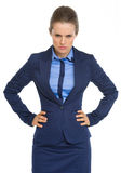 Portrait of angry business woman Stock Photography