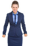 Portrait of angry business woman Royalty Free Stock Photo