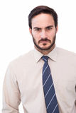 Portrait of an angry businessman royalty free stock photo