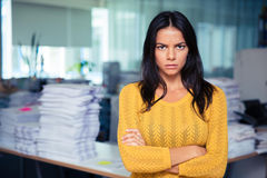 Portrait of angry businesswoman Royalty Free Stock Images