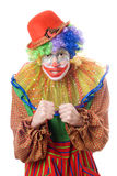 Portrait of an angry clown Stock Photo