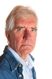 Portrait of an angry elderly man Royalty Free Stock Image