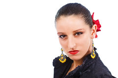 Portrait of angry flamenco dancer Royalty Free Stock Photo